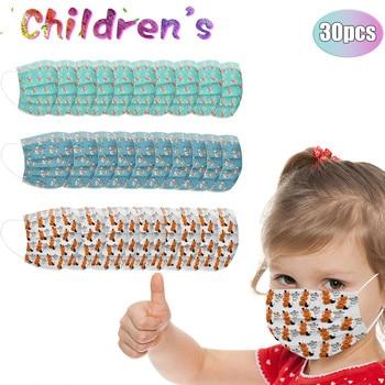 30 Uds., funda mascarilla para niños, máscara facial desechable para niños, máscara...
