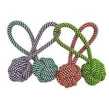 все цены на Pet Supply Dog Cotton Rope Toys Dogs Chew Teeth Clean Outdoor Traning Fun Playing Molar Rope Ball Toy For Large Small Dog Cat