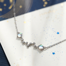 Fashion jewelry Silver Big Dipper Star Charm Bracelet 925 Moonstone Star Sparkling Zircon Bracelets For Women Girl big dipper f086rg