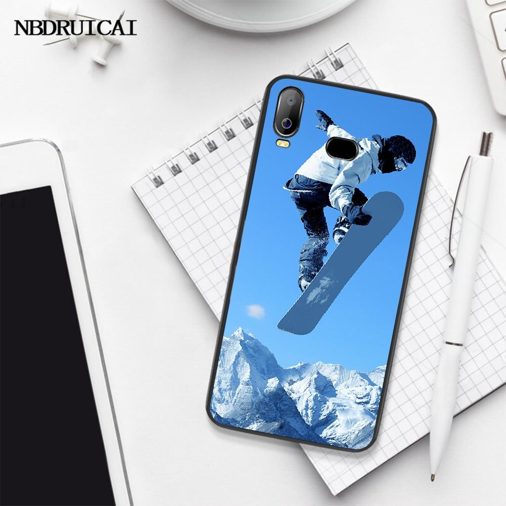 NBDRUICAI kar veya kalıp kayak Snowboard spor yumuşak kabuk telefon kılıfı çapa Samsung A10 A20 A30 A40 A50 A70 A71 a51 A6 A8 2018