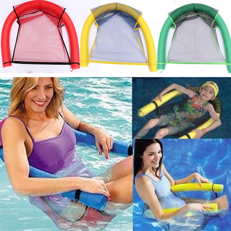 Adult Children New Summer Water Hammock Portable Inflatable Ride-ons Toy Air Mattress Beach Foldable Swimming Pool Chair 2 Sizes