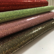 Lychee Life 29x21cm Sequin Glitter Synthetic Leather Fabric Colorful PU DIY Handmade Sewing Clothes Supplies Decorations