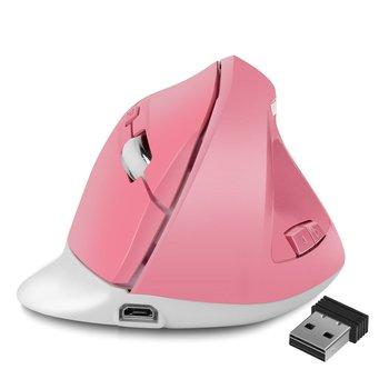 Pionowa gra komputerowa konsola biurowa bezprzewodowa pionowa optyczna mysz komputerowa ergonomiczna ładowalna mysz do gier tanie i dobre opinie NoEnName_Null CN (pochodzenie) 2 4 ghz wireless NONE