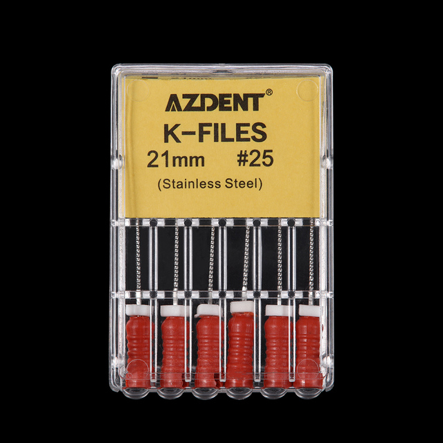 21mm/25mm 6pcs/pack K Files Stainless Steel Dental  Endodontic Instruments Dental Root Canal Files Treatment Tools 4