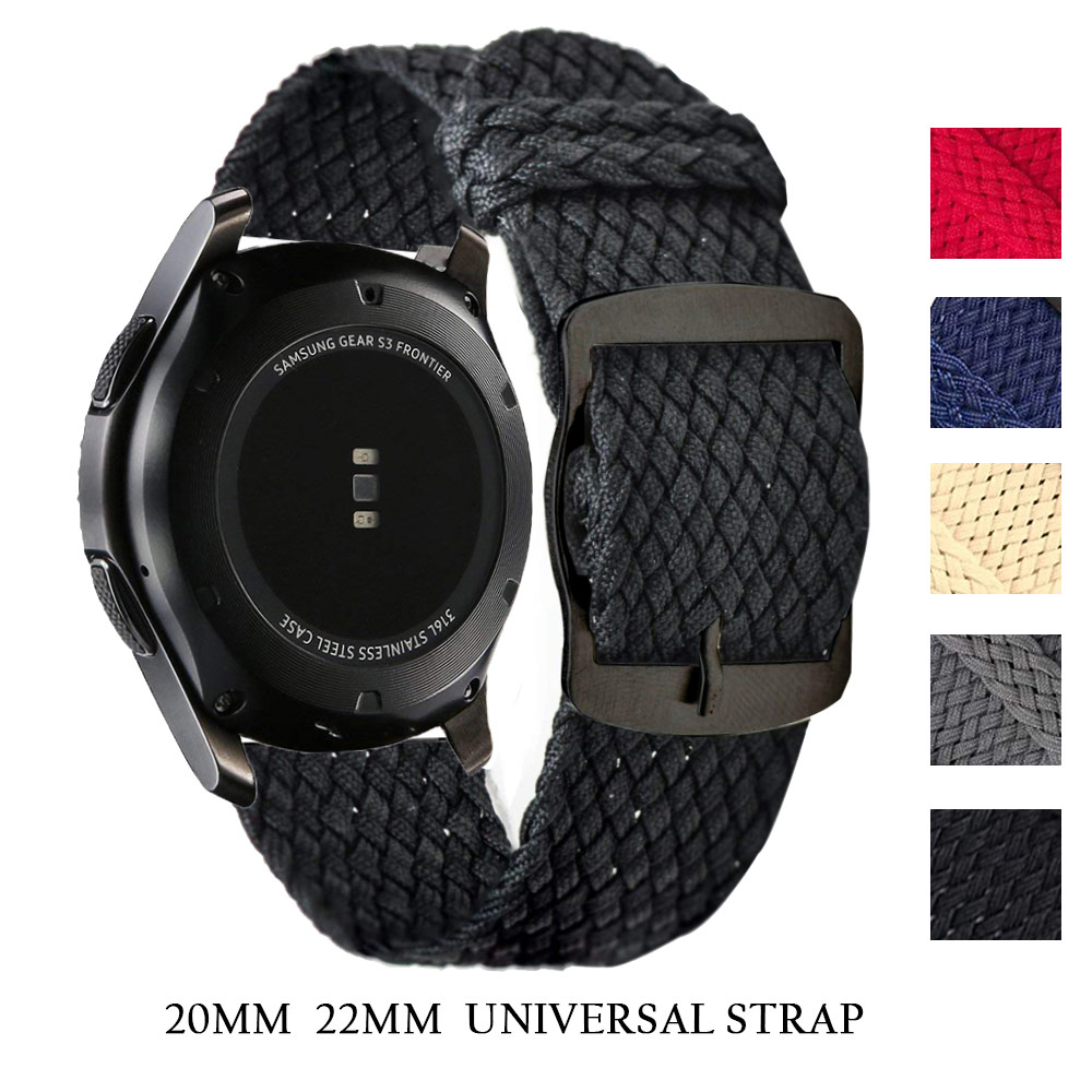 Breathable Nylon Woven Loop Band For Samsung Galaxy Watch Active2 40mm 44mm Gear S3 Xiaomi Huami Amazfit Watchband 20 Mm 22mm