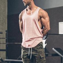 Męskie bezrękawniki fajne koszulki bez rękawów letnia odzież Fitness mężczyźni siłownia koszulki bokserki Plus rozmiar letnie koszule podkoszulek podkoszulek tanie tanio YOUYEDIAN CN (pochodzenie) Suknem Na co dzień Stałe Tank Tops Poliester O-neck