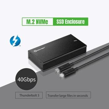 Thunderbolt 3 NVME SSD Enclosure SSD Case Thunderbolt 3 40Gb to NVMe M.2 SSD Enclosure Hard Disk Case Box for Laptop Desktop PC
