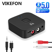 NFC Bluetooth 5.0 Receiver APTX LL 3.5mm AUX RCA Jack Wireless Adapter Auto On/OFF With Mic Bluetooth 5.0 4.2 Car Audio Receiver