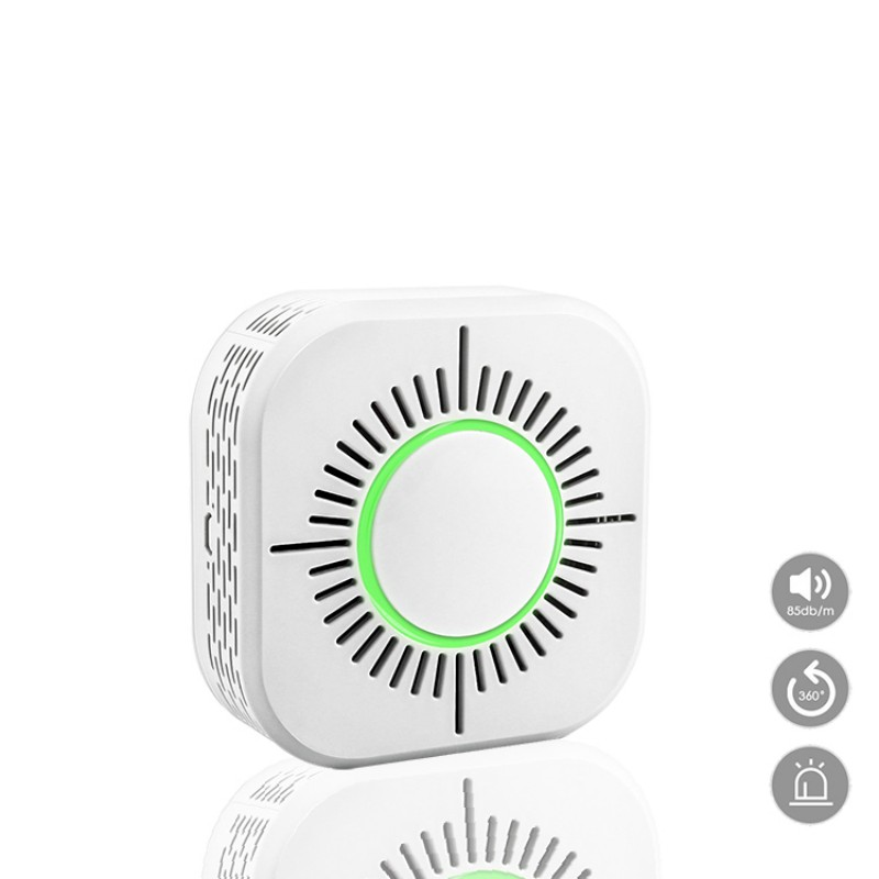 Independent Wireless 360-degree Omni-directional Sound And Light Prompt Alarm Reliable High Sensitivity Induction Smoke Detector