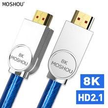 MOSHOU Reale HDMI 2.1 Cavo Ultra-HD (UHD) 8 K HDMI 2.1 Cavo 48Gbs con Audio & Ethernet HDMI Cavo di 1 M 2 M 5 M 10 M 15 M 20 M HDR 4:4:4