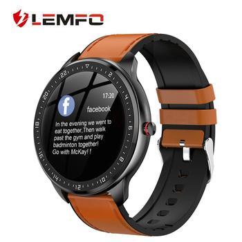 2020 New Smart Watch IP67 Waterproof Heart Rate Blood Pressure Monitoring LEMFO Smartwatch Fitness Tracker for Men Women Gift