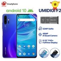 Global Version UMIDIGI F2 Android 10 6.53 FHD+ 6GB 128GB 48MP AI Quad Camera 32MP Selfie P70 Cellphone 5150mAh Triple Slots NFC
