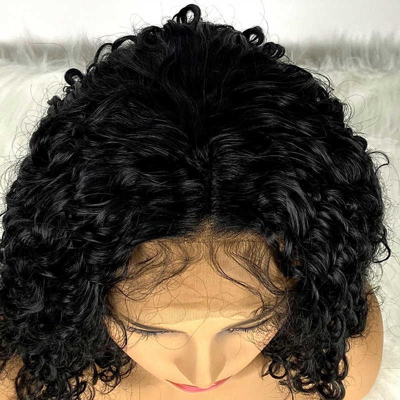 Gres syntetyczna koronka Peruka Front kręcone na ramię długość koronkowa Peruka Front dla czarnych kobiece włosy włókno termoodporne Peruka