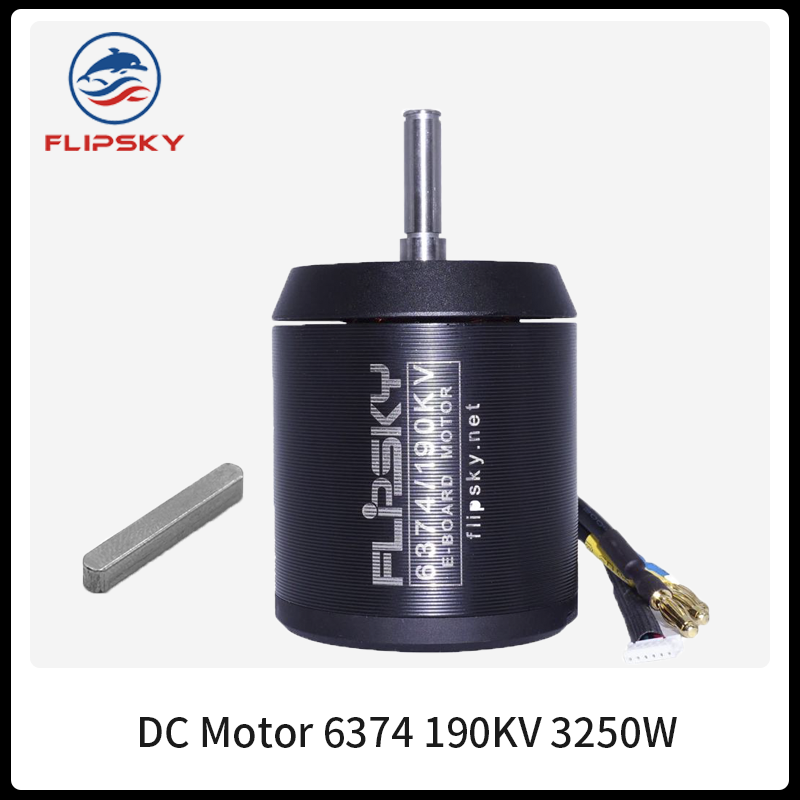 BLDC <font><b>6374</b></font> <font><b>190KV</b></font> 3250W 12S Belt <font><b>Brushless</b></font> <font><b>Motor</b></font> for Electric Skateboard / Ebike / Escooter / DIY Electronics|FLipsky image