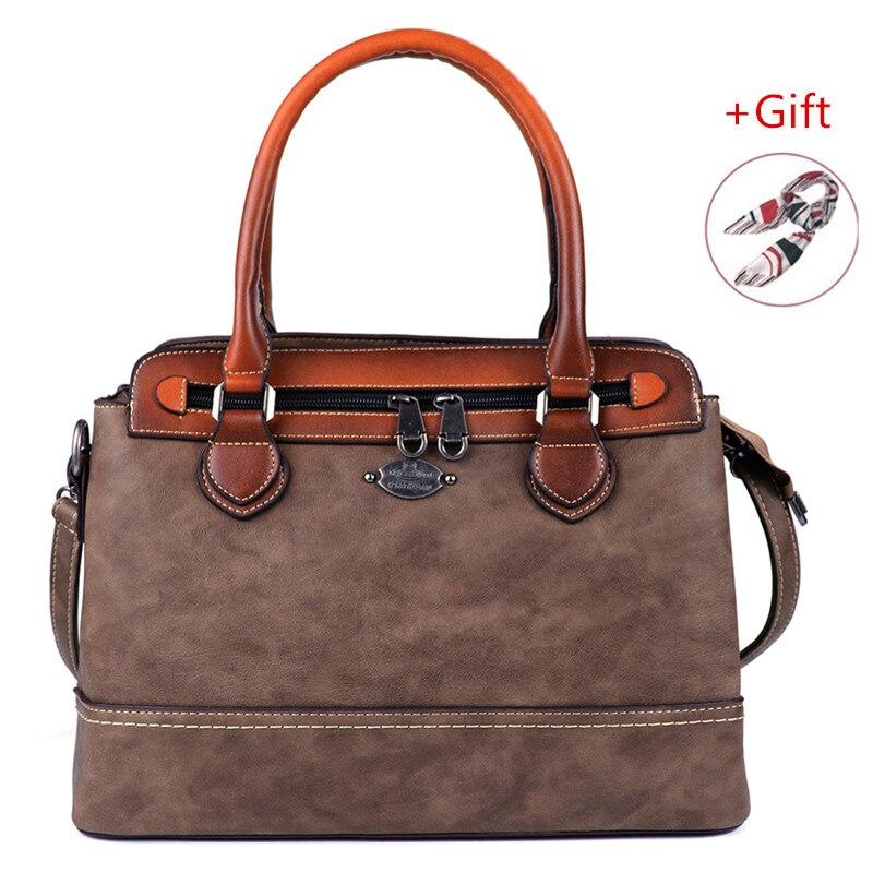 2019 Retro Women Bag Brush Handbag Genuine Leather Shoulder Crossbody Bag Luxury Designer Bags Women Tote Bag High Quality Mac A