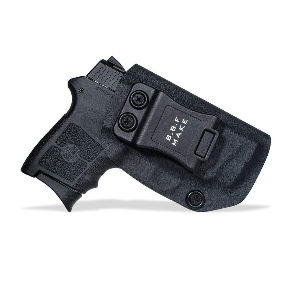 B.B.F Make IWB Tactical KYDEX Gun Holster Fits: S&W M&P Bodyguard 380 Laser BG380 Inside Concealed Carry Waist  Pistol Case