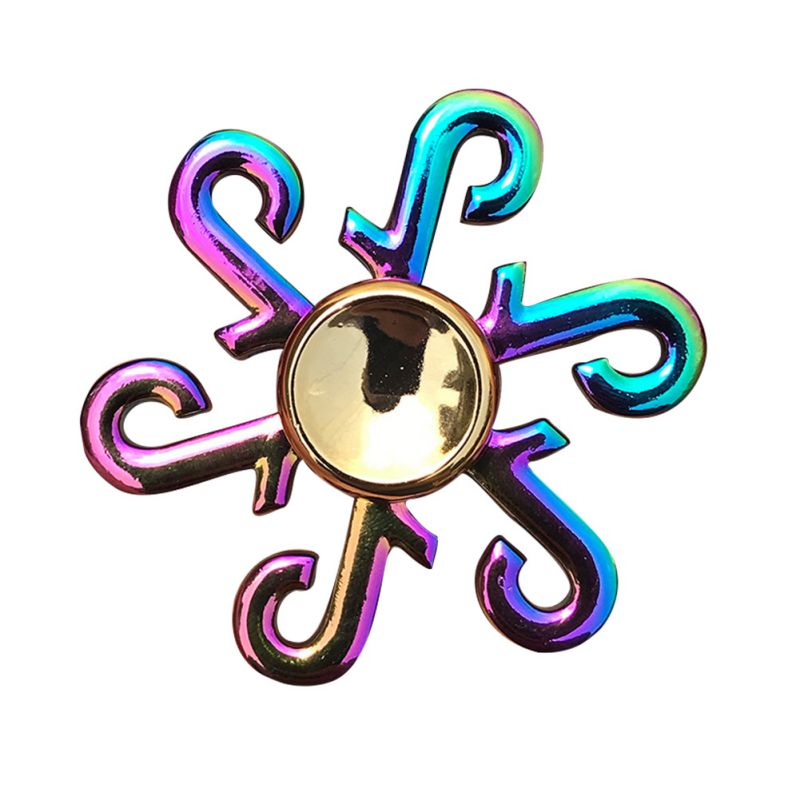 Finger Spinner Office Anxiety Relief Stress Fidget Gyro Flower / Tower / Spider Metal Hand Spinner Tri Spinner Model