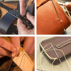 Image 2 - 69pcs/set Professional Leather Craft Tools Kit Hand Sewing Stitching Punch Carving Work Saddle Groover Set Accessories DIY