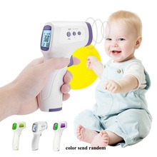 цена на Non-Contact IR Infrared Thermometer Baby Thermometer Laser LCD Backlight Digital Pyrometer Body Temperature Meter