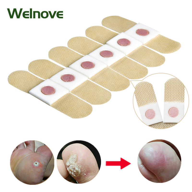 24pcs Foot Corn Killer Pads Removal Calluses Plantar Warts Thorn Plasters Medical Sticker Relieving Pain Patch Health Care D2399