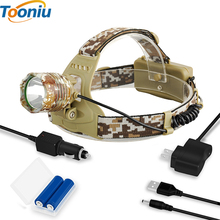 CREE 3800LM XM-T6 Led Headlamp Headlight Camouflage led Head Lamp Rechargeable Lantern Camping Hiking Fishing Light