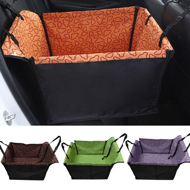 Portadores de estimação à prova dwaterproof água cão capa de assento do carro esteiras rede almofada transporte para cães perro autostoel hond saco de assento de carro