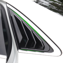 цена на Car Carbon Fiber Style Rear Window Triangle Shutters Panel Cover Stickers Trim For Audi A4L A4 B9 2017 2018 2019