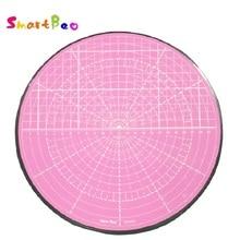 Розовый вращающийся мат для резки изогнутые для круговой резки,модель живопись, комнатные раскройный завод, 360-градусный поворот; диаметр 25,5 см