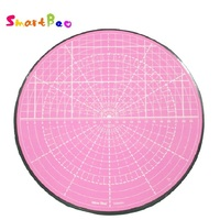 Pink Rotating Cutting Mat for Curved Circle Cutting,Model Painting, Potted Plant Cutting, 360 degree Rotation; Diameter 25.5 cm