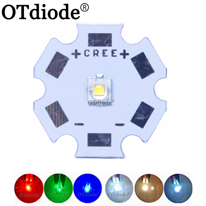 <font><b>Cree</b></font> <font><b>3W</b></font> XPE2 XP-E2 High Power <font><b>LED</b></font> Emitter Diode on 8mm/ 12mm/ 14mm/ 16mm/ 20mm PCB, Neutral White/Warm White/Cool White Red Blue image