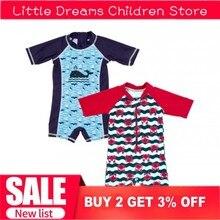 Одежда для купания для маленьких мальчиков с изображением Кита, краба, цельный купальный костюм, одежда для плавания для детей ясельного возраста, одежда для дайвинга, костюм, пляжная одежда