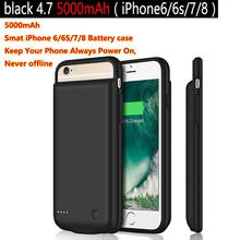 5000mAh Battery Charger Case สำหรับ iPhone 6 6 S 7 8 Power Bank ชาร์จกรณีแบตเตอรี่กรณี ultra Slim ภายนอกแพ็คกลับ