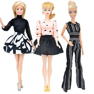 Fashion Office Suit Dress Outfits for 1/6 Barbie BJD FR Doll Clothes Accessories Play House Dressing Up Costume Kids Toys Gift(China)