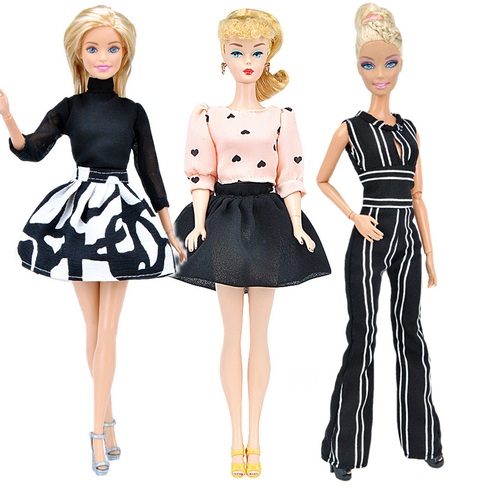 Fashion Office Suit Dress For  Barbie Doll Clothes Accessories Play House Dressing Up Costume Kids Toys Gift