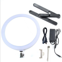 Dimmable 14 LED Lamp Fill Light with Cosmetic Mirror Photography Selfie Light for Camera Photo Studio Video Live Makeup
