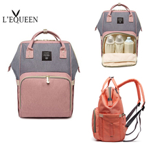 قدرة كبيرة الطفل حقيبة المومياء حقيبة السفر موضة العلامة التجارية مصمم حقيبة التمريض للطفل أمي على ظهره الأم تحمل أكياس الرعاية