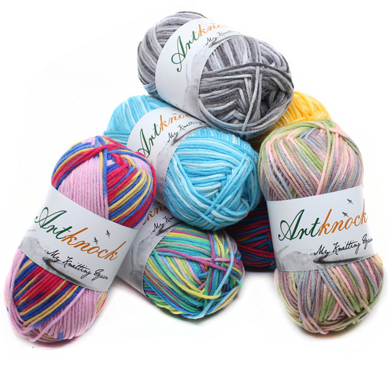 12Pcs Fancy Yarn Mix Colors Melange Thread Strings Cotton Blended Yarn Beautiful For Hand Knitting Sweater