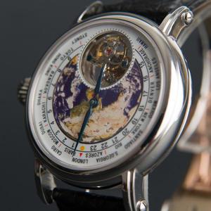 Tourbillon-Watch Mechanical-Movement Men's Real Luxury Brand Earth-Dial New Reloj Crocodile