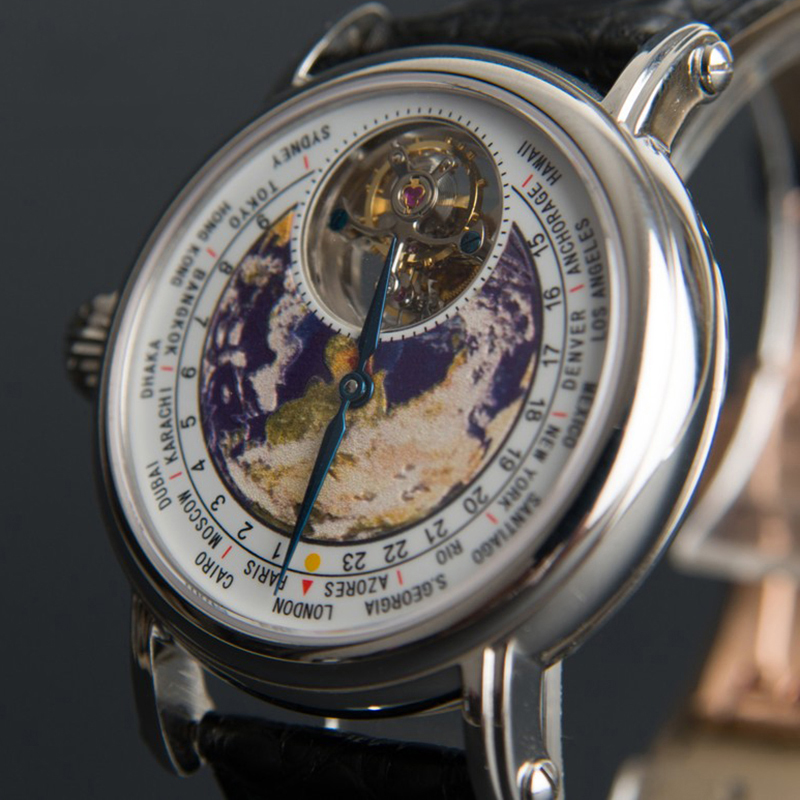 2020 New Real Tourbillon Watch Men Mechanical Movement Luxury Brand Earth Dial Crocodile Leather Men's Wristwatch Reloj Hombre