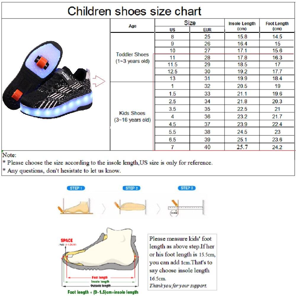Kid Shoes Heelys Pop Push Lighted Boys