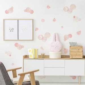 Дети Спальня Розовый Прекрасный точка круг стены стикер s съемный самоклеющийся ребенок стикер на стену детской наклейки