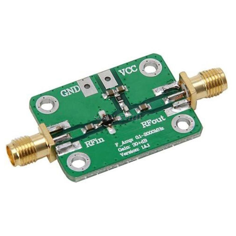 0.1-2000MHz RF Amplifier Wideband High Gain 30dB Low Noise Amplifier LNA Broadband Module Receiver Dropship