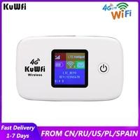 Router Wi-fi KuWFi 4G 150Mbps sbloccato 3G 4G Lte Wireless portatile Hotspot Mobile Router Wi-fi per auto con Slot per schede Sim
