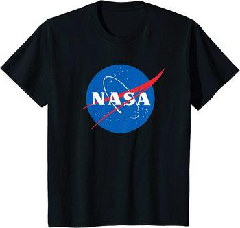 Koszulka Nasa oficjalnie licencjonowany T-Shirt z Logo Nasa tanie i dobre opinie Daily CN (pochodzenie) Cztery pory roku Z okrągłym kołnierzykiem tops Z KRÓTKIM RĘKAWEM SHORT COTTON Na co dzień Drukuj