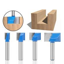 VACK 1PCS 8mm Cleaning bottom Engraving Bit solid Carbide Milling cutter End mill Face CNC Woodworking Tools For wood router bit