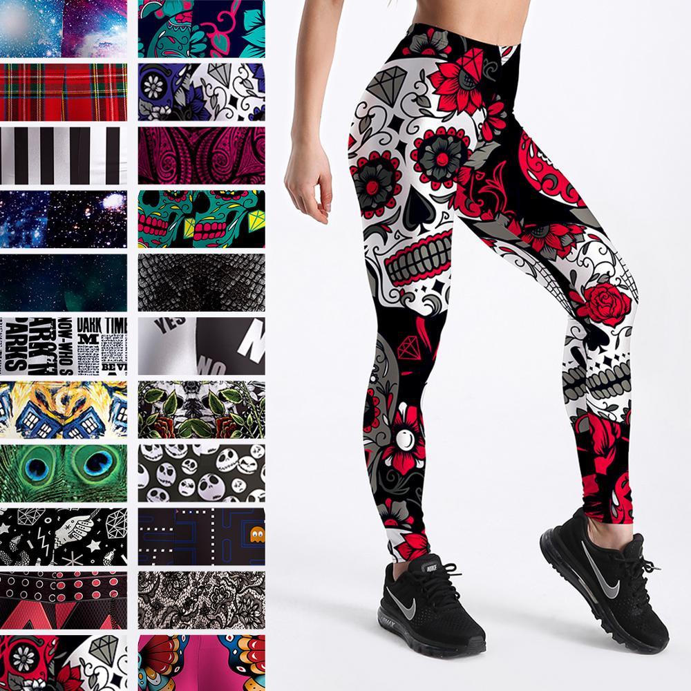 Qickitout 12% Spandex Fashion Cartoon Ice Cream God Horse Skull Digital Printed Legging Womens Star Stretch Pants|horse leggings|fashion leggingsleggings fashion - AliExpress