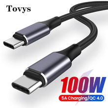 Pd 100w usb tipo c para usb c cabo para samsung s10 s20 s21 5a qc4.0 carregamento rápido USB-C tipo-c carregador para macbook pro cabo de dados