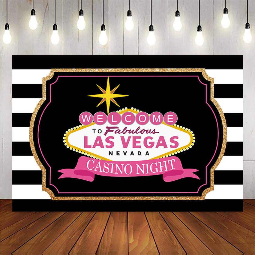 Las vegas tło kasyno noc wspaniałe materiały do dekoracji przyjęcia urodzinowego tło dla zdjęć studio nevada urodziny paski