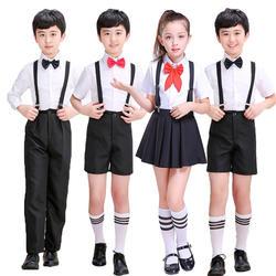 8 видов стилей школьная юбка для девочек японская Студенческая форма хор сценическая одежда Корея Мода колледж Класс Cosutmes для детей