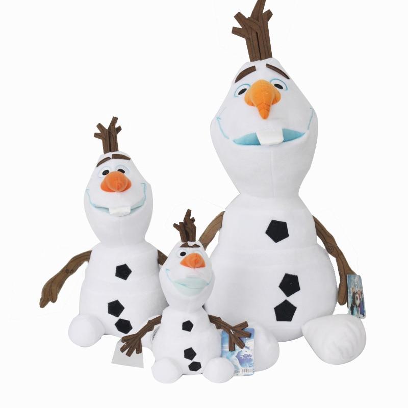 20cm/30cm/45cm Snowman Olaf Plush Toys Doll Kawaii Snowman Cartoon Plush Soft Stuffed Animals Toys Dolls For Children Kids Gifts